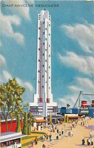 Giant Havoline Thermometer Century of Progress Chicago IL