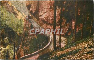 Old Postcard En Chartreuse The beautiful road Frou in the Gorges du Guiers Vif