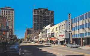 Jackson MI~Michigan Avenue West~Richman Brothers~National Bank~1960s Cars