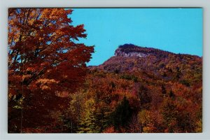 White Mountains NH- New Hampshire, Unique Mt in Background, Fall,Chrome Postcard