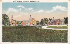 BALTIMORE, Maryland, 1900-1910´s; Johns Hopkins University