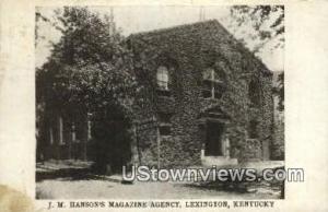 Jm Hansons Magazine Agency Lexington KY 1908