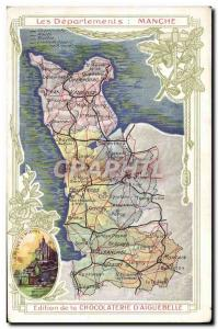 Postcard Old MAPS Chocolaterie d & # 39Aiguebelle Channel
