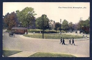 Five Points Circle Birmingham Alabama used c1911