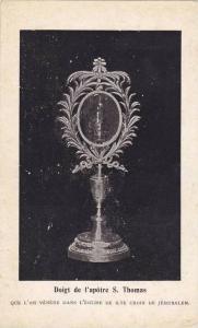 Religious Jewish Icons, Doigt De l'Apotre S. Thomas, Jerusalem, Israel, 1900-10s