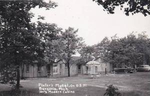 Michigan Benzonia Plater's Motel Real Photo