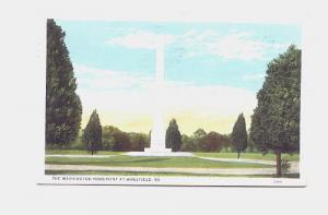 Washington Monument, Wakefield Virginia, Used 1933