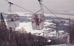 Mont Sainte-Anne , Quebec , Canada , 1950-60s ; Ski Lift