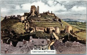 postcard UK England Dorset Corfe Castle