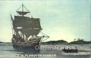 The Mayflower, Plymouth, Massachusetts, MA USA Sail Boat Postcard Post Card  ...
