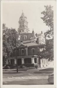 Ohio Real Photo RPPC Postcard 1946 MARYSVILLE Union County Court House