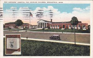 Massachusetts Springfield New Shriners Hospital For Crippled Children 1928