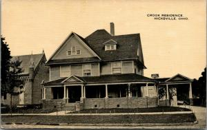 Hicksville Ohio~Crook Mansion~Owner Crook Miller Handle Factory~1916 Sepia PC