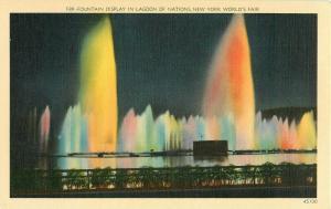 Postcard Fountain Display in Lagoon of Nations, New York World's Fair