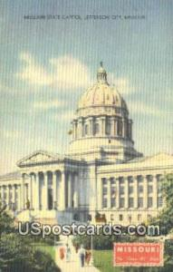 Missouri State Capitol Jefferson City MO 1946 Missing Stamp