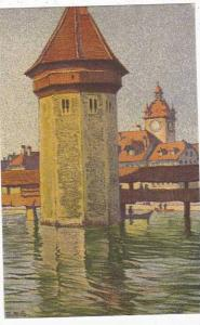 Switzerland Ernst Schlatter Wasserturm Mit Rathaus