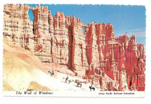 Utah Bryce Canyon National Park Wall of Windows Postcard