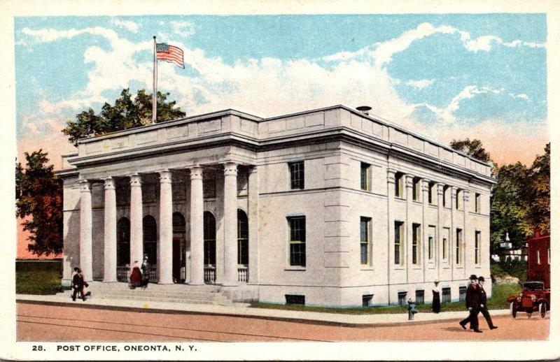 New York Oneonta Post Office Curteich