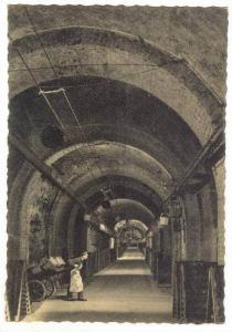 Reims, France 20-40s  Champagne Pommery & Greno, gallery with wine-bottles ne...