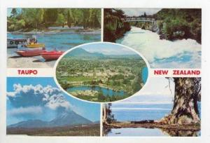 5-view postcard, TAUPO, New Zealand, 60-70s