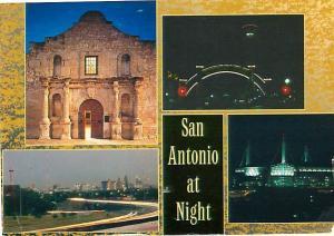 San Antonio Night Scene Alamo   Postcard  # 7422