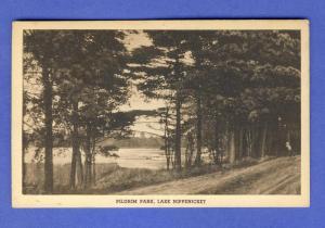 Bridgewater,Mass/MA Postcard,Pilgrim Park/Lake Nippenicket-B