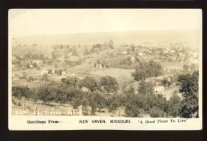 New Haven, Missouri/MO  Postcard, Aerial View From Hilltop