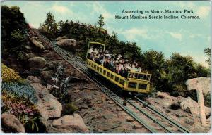 MANITOU, CO Colorado    Mt Manitou  INCLINE RAILWAY   c1910s    Postcard