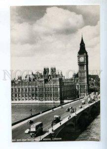 241039 UK LONDON BIG BEN Westminster bridge Vintage postcard