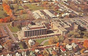 Anderson Indiana Bird's Eye View~St John's Hickey Memorial Hospital~60s Postcard