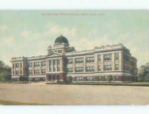 Divided-Back HIGH SCHOOL SCENE Battle Creek Michigan MI E2444