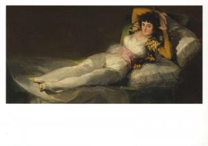'La maja vestida' Francisco de Goya Artist Museo Prado Art Card Postcard D30