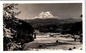 RPPC OHOP VALLEY, WA Washington View MT & OHOP VALLEY c1940s Ellis #500 Postcard