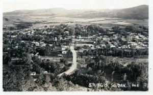Sturgis SD South Dakota Aerial View Birdseye Black Hill RPPC Real Photo Postcard
