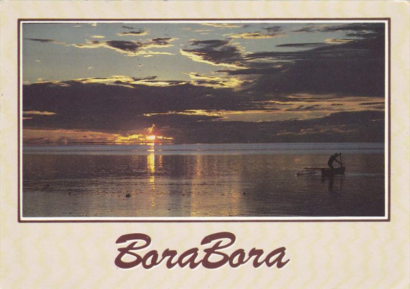 Le Soir , Le Pecheur Rentre au Fenua , TAHITI , PU-1985 : Tahiti stamps
