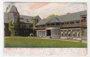 Casino Court & Clock Tower Newport Rhode Island 1906 postcard