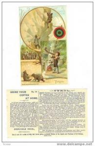 TC, 3 Scenes Of Tyrol Natives, Arbuckle Coffee, 1893