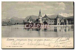Old Postcard Luzern International Kriegs Friedens und Museum