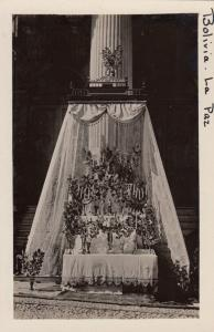 RP: LA PAZ, Bolivia, 1910-1930s; Street Altar on Corpus Christi Day