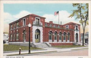 Pennsylvania Sayre Post Office Curteich
