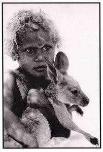 Baby Roo Australia Australian Aborigine Child Kangaroo Postcard