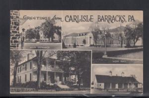 Postcard Carlisle Barracks PA Multi-view Army Medical Field Service School