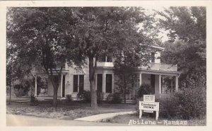 Eisenhower Home Abilene Kansas 1949 Real Photo