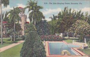 Florida Sarasota The John Ringling Estate Curteich