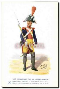 Old Postcard The uniforms of the gendarmerie MArechausee Gradne held at 1812 ...
