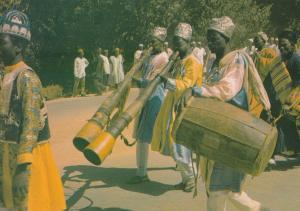 Nigeria Drummer Musician Horn Players in Katrina Nigerian Hausa Africa Postcard