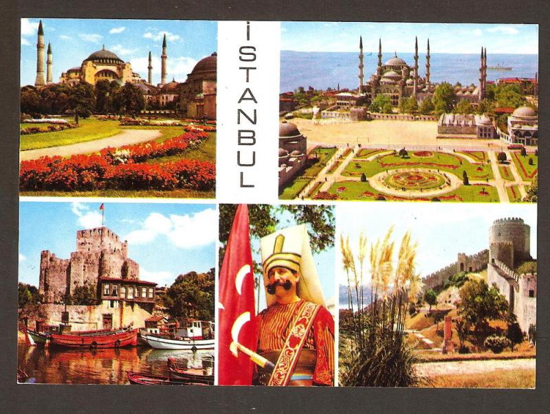 TURKEY VINTAGE POSTCARD  ISTANBUL-VIEWS FROM CITY
