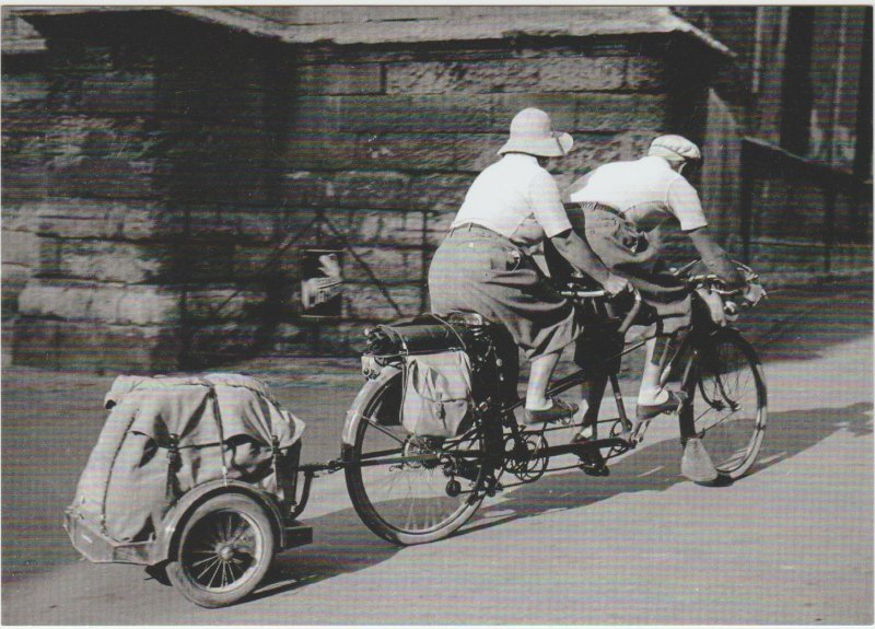 Tandem ride with luggage France 1937