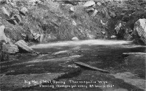 Big Horn Hot Springs Wyoming Thermopolis 1920s RPPC Photo Postcard 20-4988