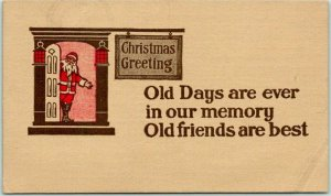 Postally-Used CHRISTMAS Postcard SANTA CLAUS w/ 1911 BARBADOS Cancel & Stamp